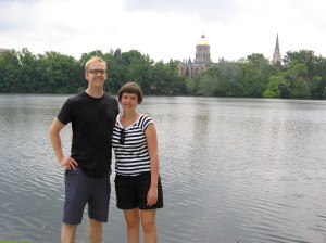 With Joel at Notre Dame