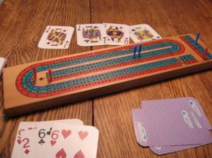 And to cap off a great visit, today I finally beat my mom in cribbage.