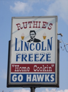 This was where Lincoln had his first Lincoln Freeze.