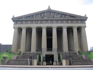 It's just like I said: a life-size concrete replica of the Parthenon.