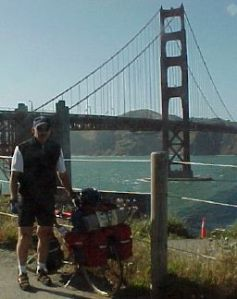 Dad at the Golden Gate Bridge, 1999