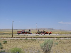 The site of the first transcontinental head-on train collision.