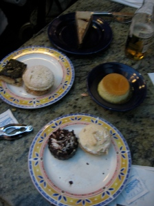 A totally normal number of desserts for two people to consume.