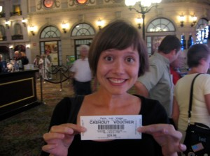 My first paycheck in my new life as a professional slot-player.