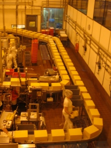 Cheese factory: Better than any stupid old chocolate factory.