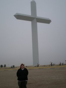 Here I am with the second-largest cross in the Western hemisphere.