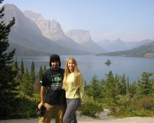 Here's Kevin and me at Glacier National Park.