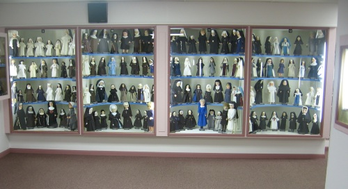 Worthy of commendation: This glass case filled with dolls. Not: Contraception, gays, female priests.