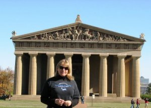 Here I am in front of the Nashville Parthenon.